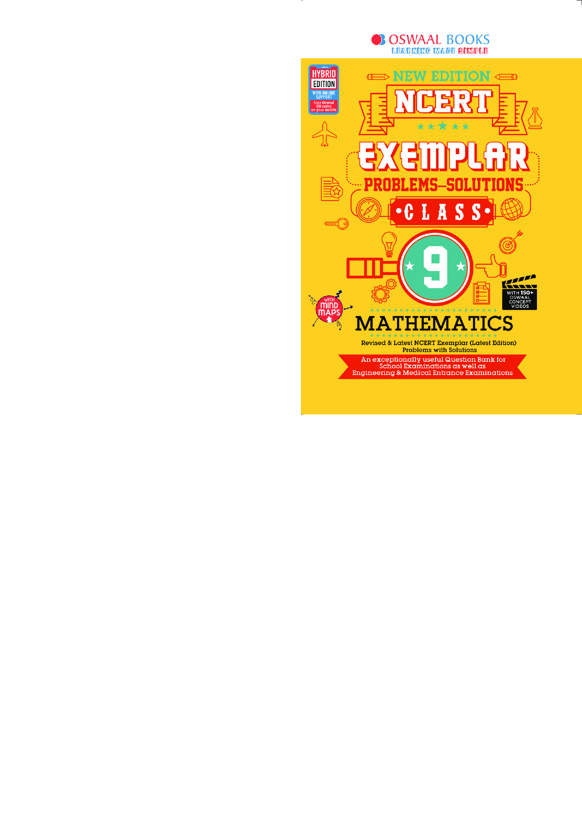 Oswaal NCERT Exemplar (Problems - Solutions) For Class - IX Mathematics (For March 2021 Exam) - Page 1