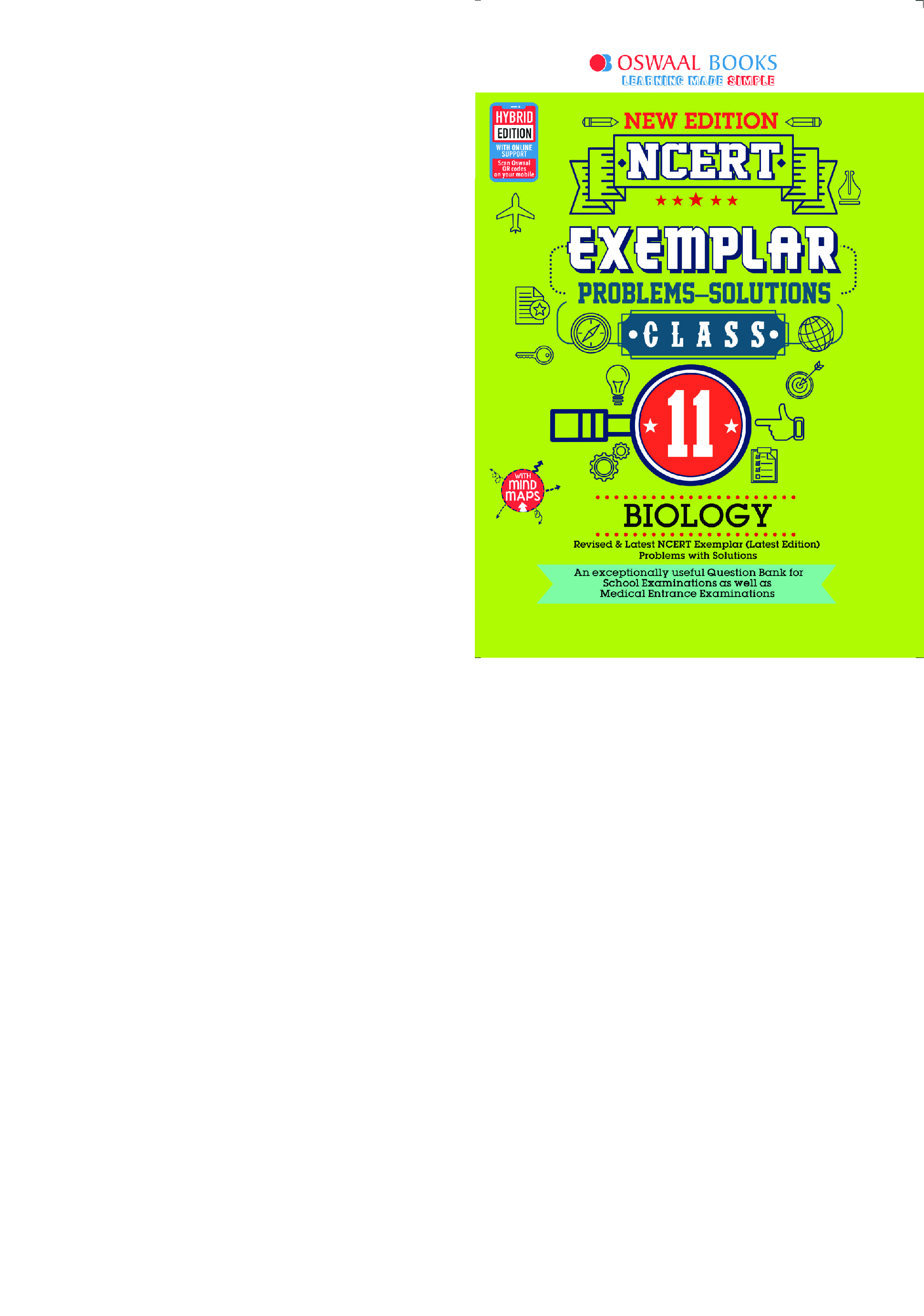 Oswaal NCERT Exemplar (Problems - Solutions) For Class - XI Biology (For March 2021 Exam) - Page 1