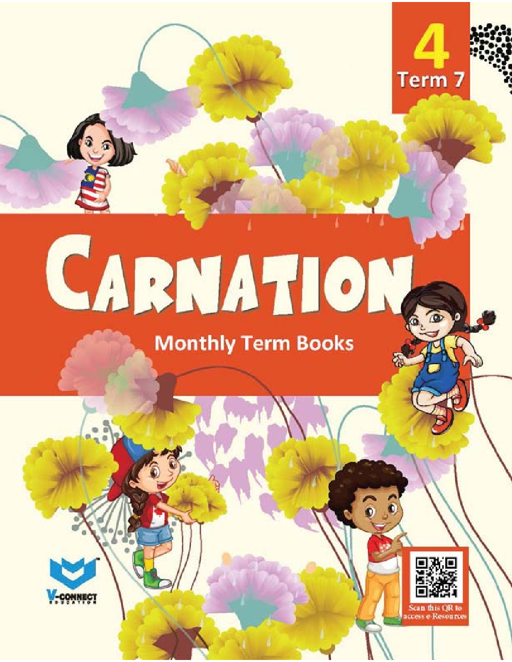 Carnation Monthly Term Book Class-4 Term-7 - Page 1