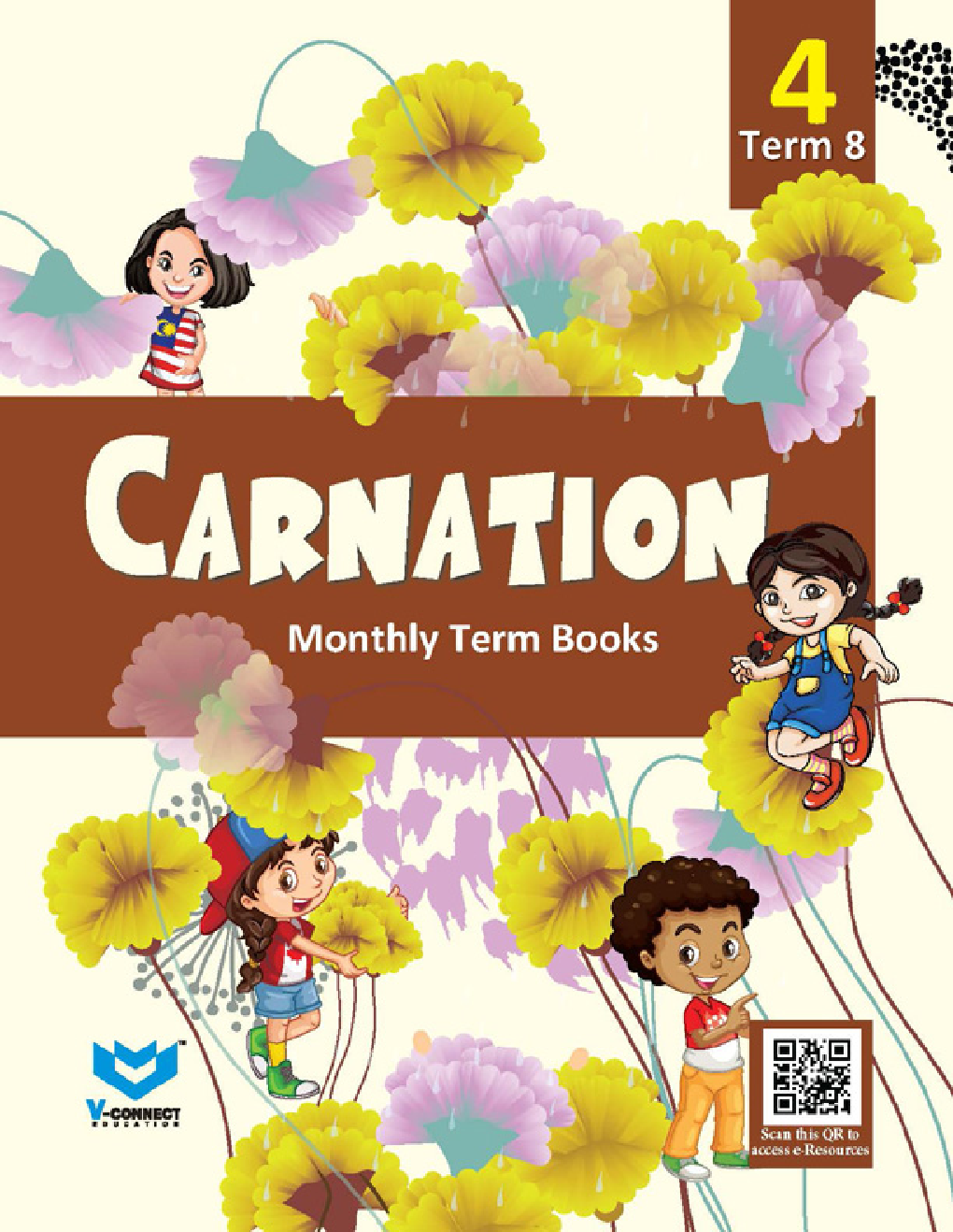 Carnation Monthly Term Book Class-4 Term-8 - Page 1