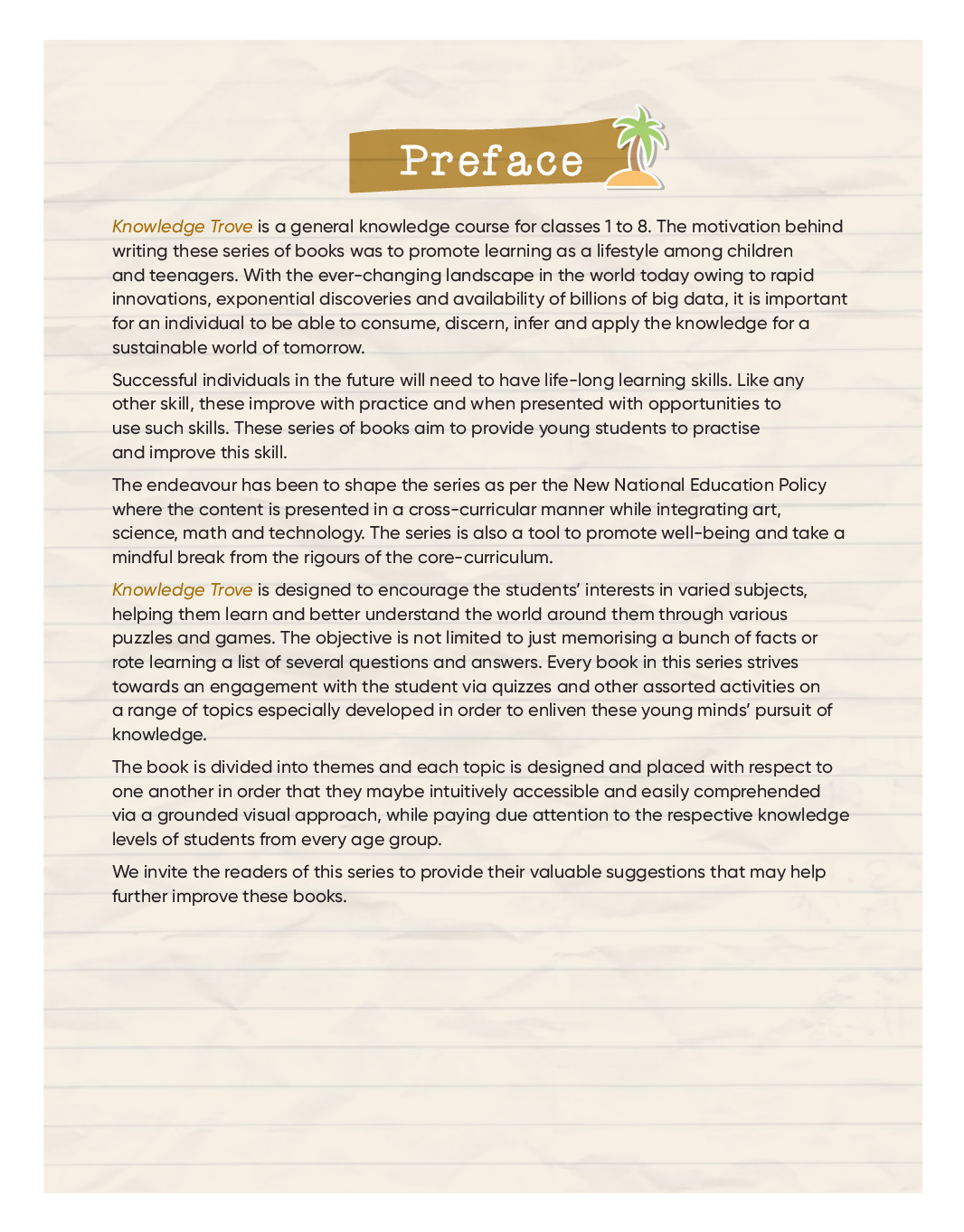 Knowledge Trove General Knowledge Book For Class-1 - Page 4