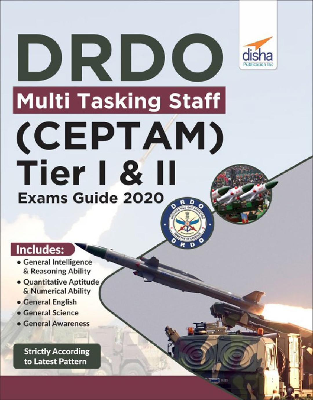 DRDO Multi Tasking Staff (CEPTAM) Tier I & II Exam Guide 2020 - Page 1
