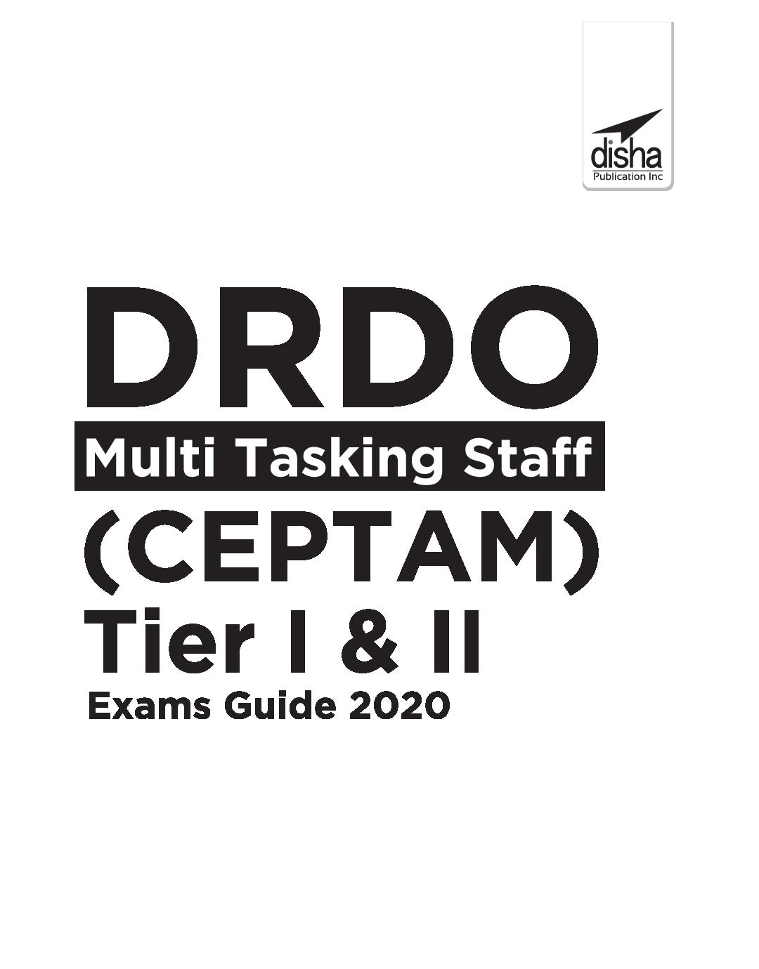 DRDO Multi Tasking Staff (CEPTAM) Tier I & II Exam Guide 2020 - Page 2