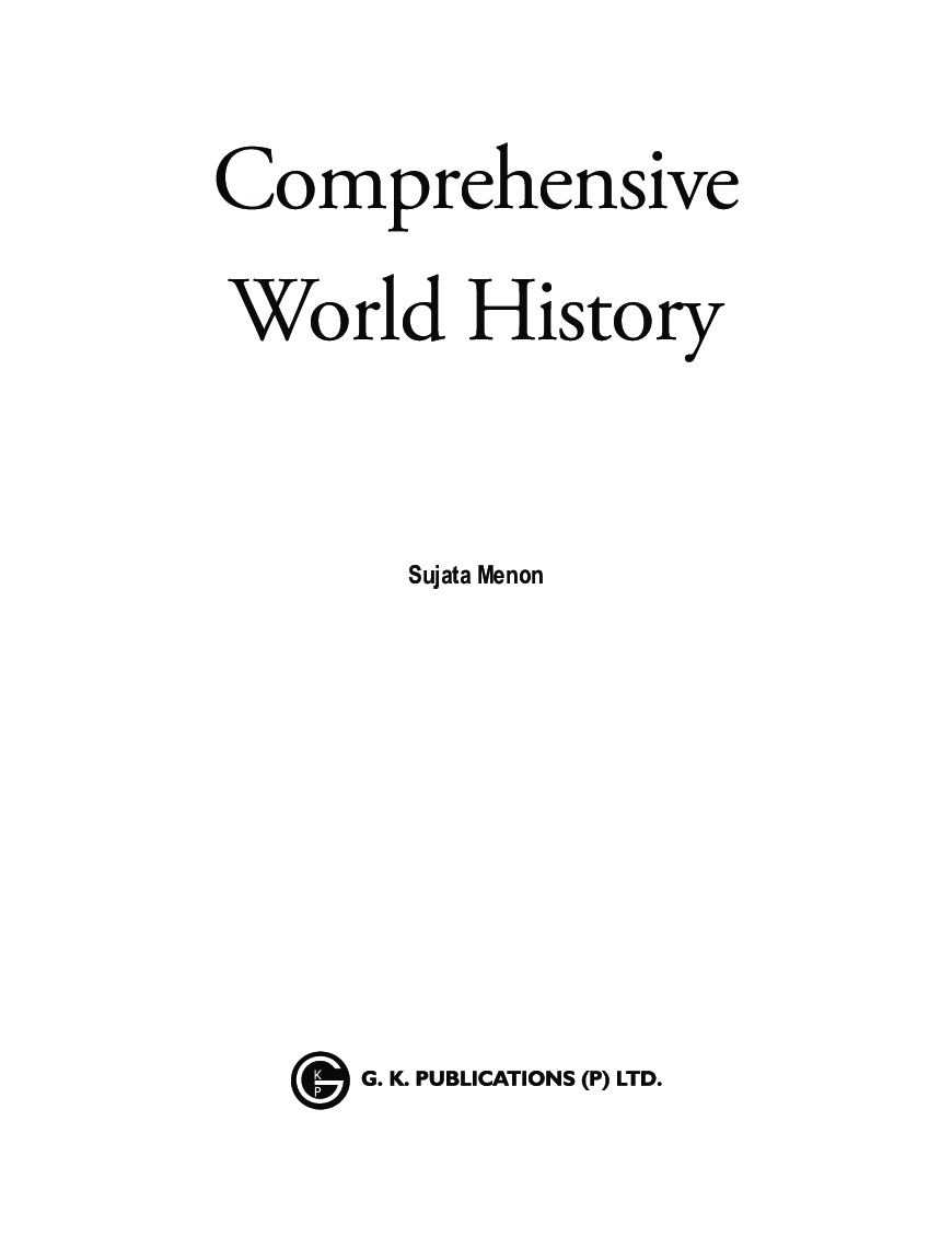 Comprehensive World History For Civil Services Main Examination - Page 4