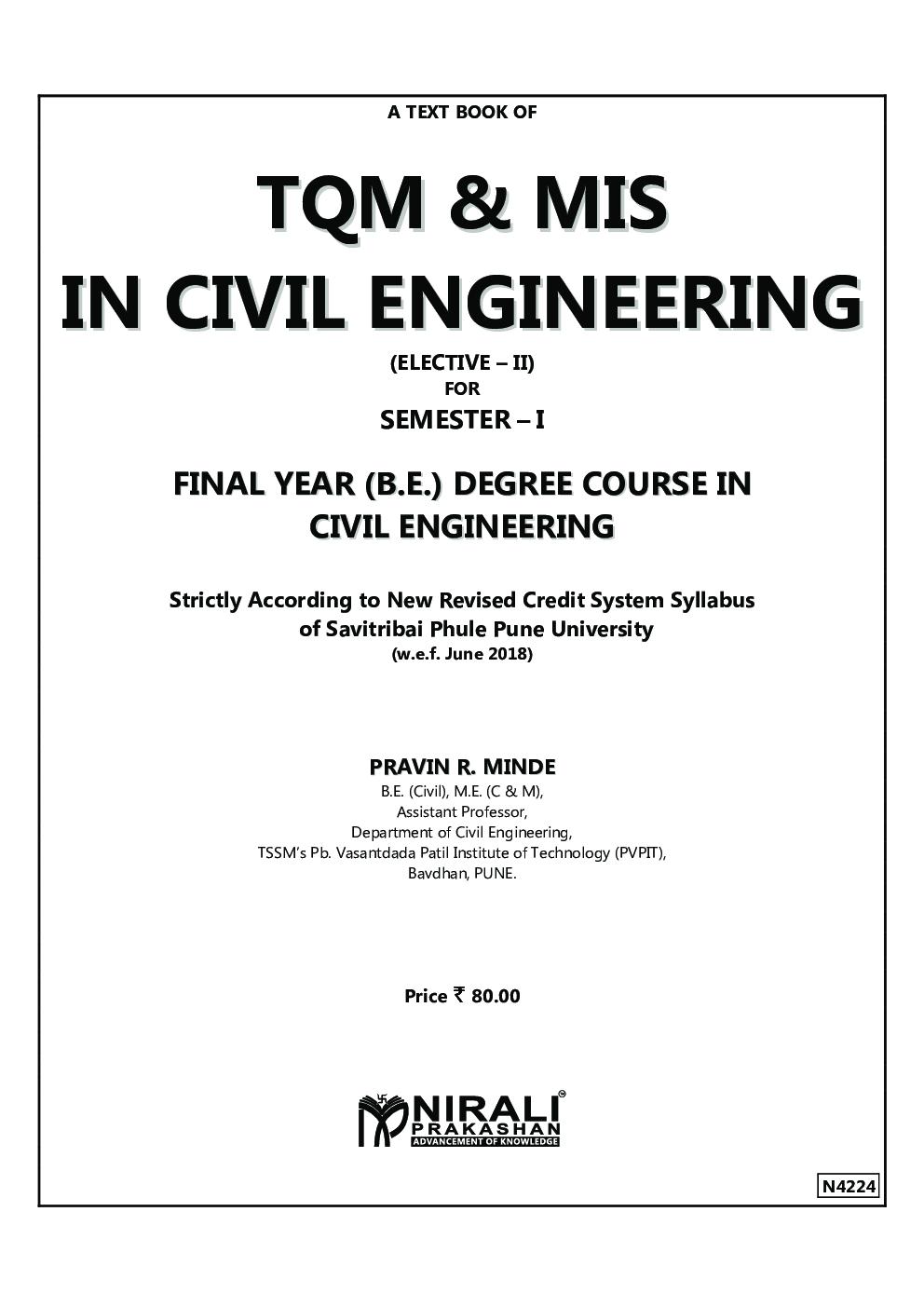 TQM & MIS In Civil Engineering - Page 2