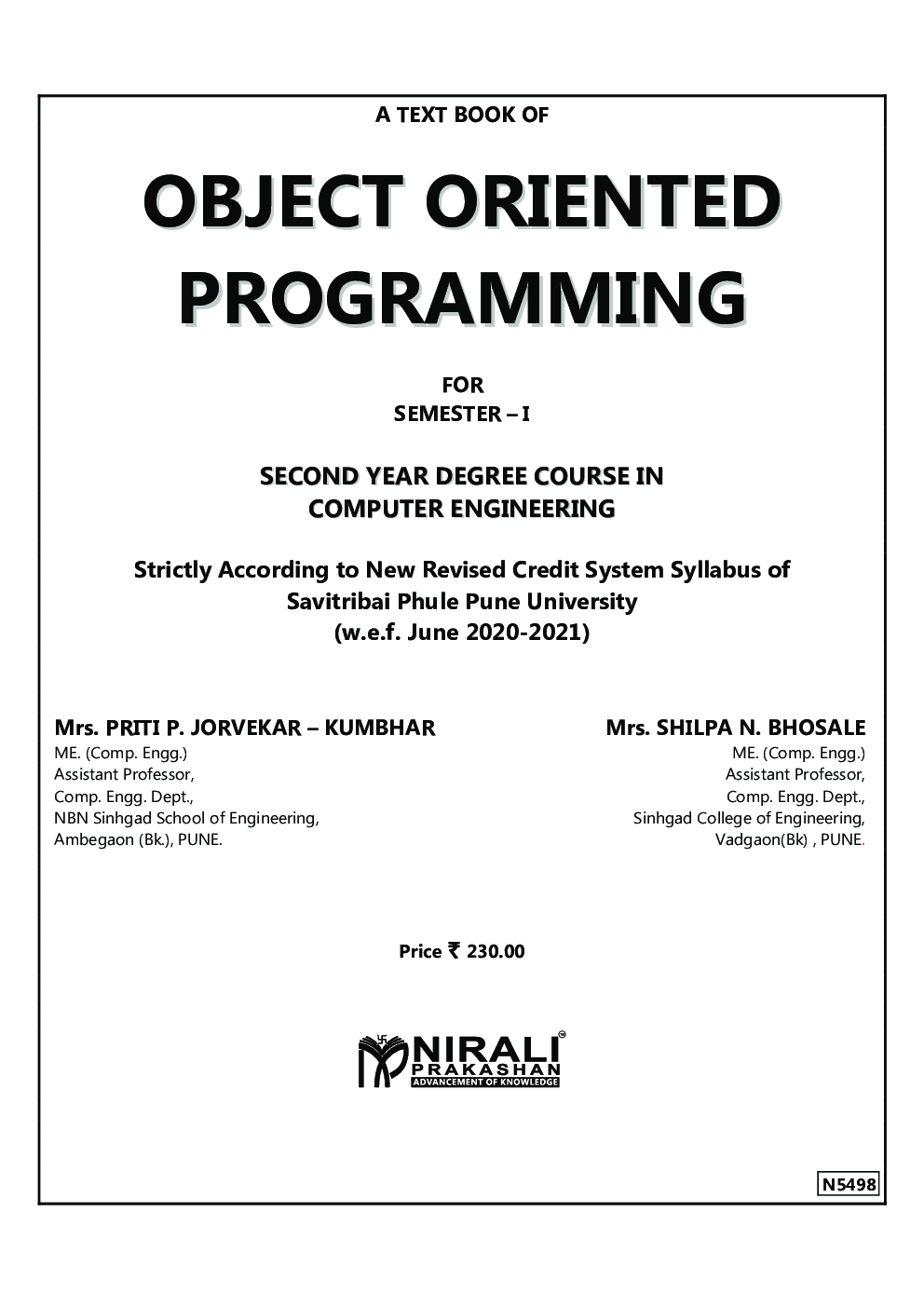 Object Oriented Programming - Page 2