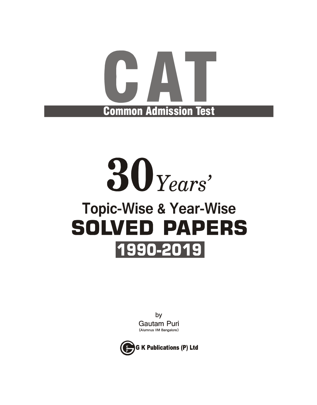 CAT 2020 30 Years Topic-Wise & Year-Wise Solved Papers 1990-2019 - Page 4