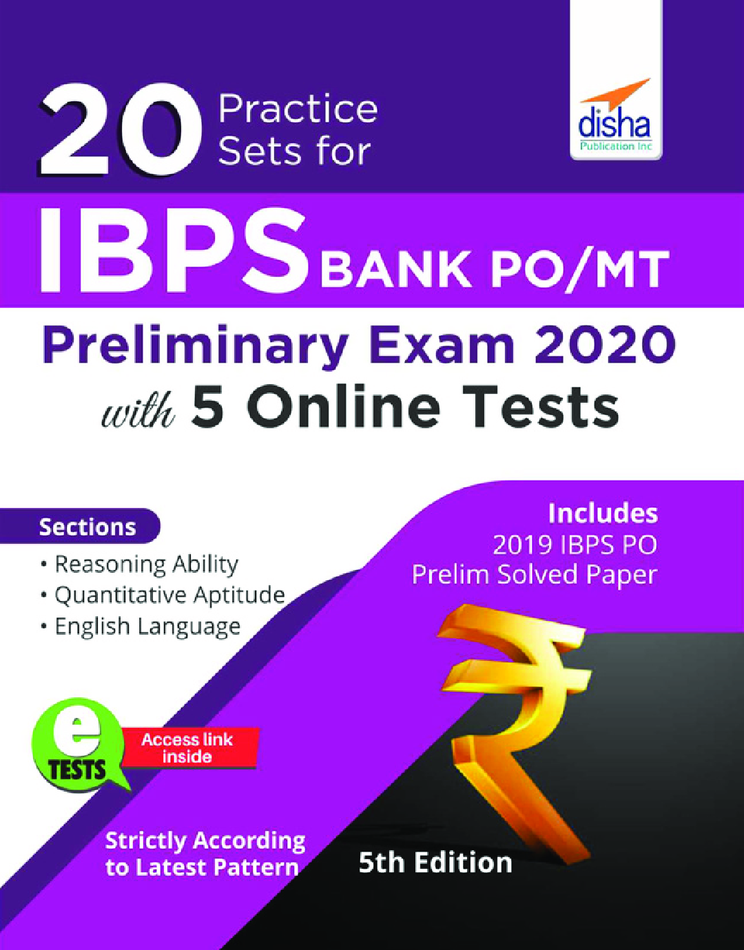 20 Practice Sets For IBPS PO/ MT Preliminary Exam 2020 With 5 Online Tests 5th Edition - Page 1