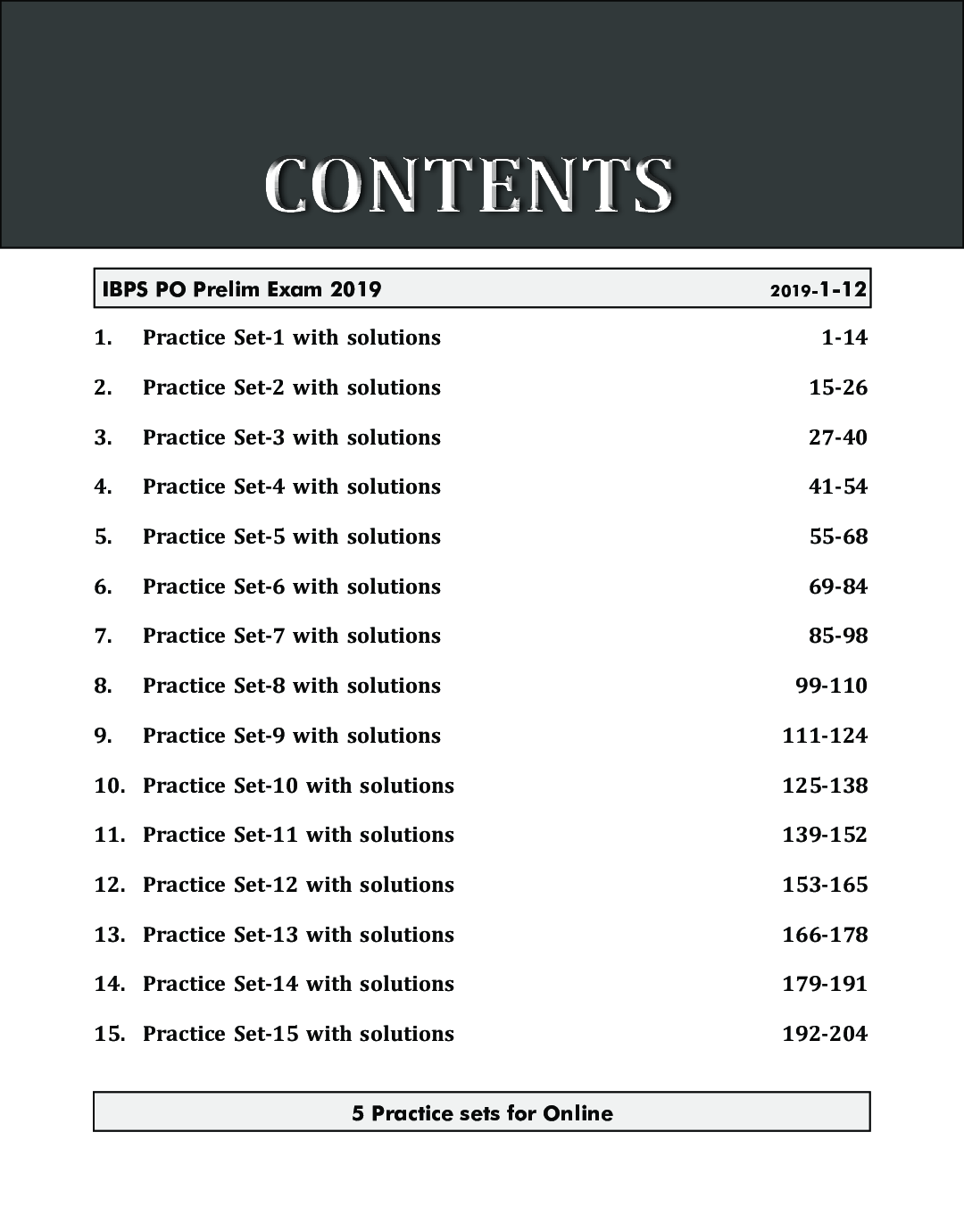 20 Practice Sets For IBPS PO/ MT Preliminary Exam 2020 With 5 Online Tests 5th Edition - Page 4