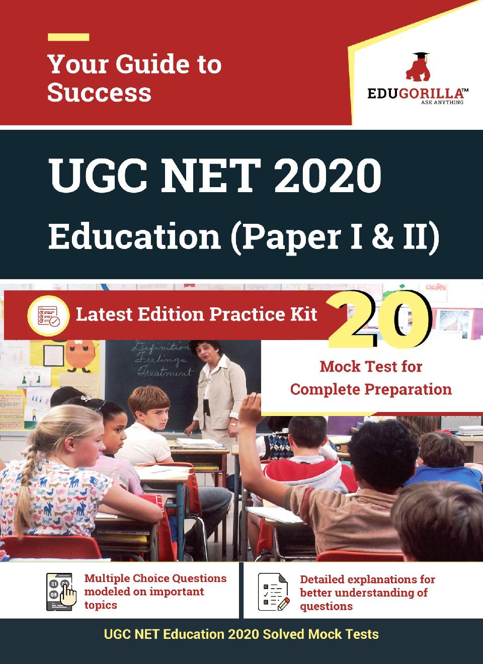 EduGorilla UGC NET Education 2020   20 Full-Length Mock Test For (Paper I & II) - Page 1
