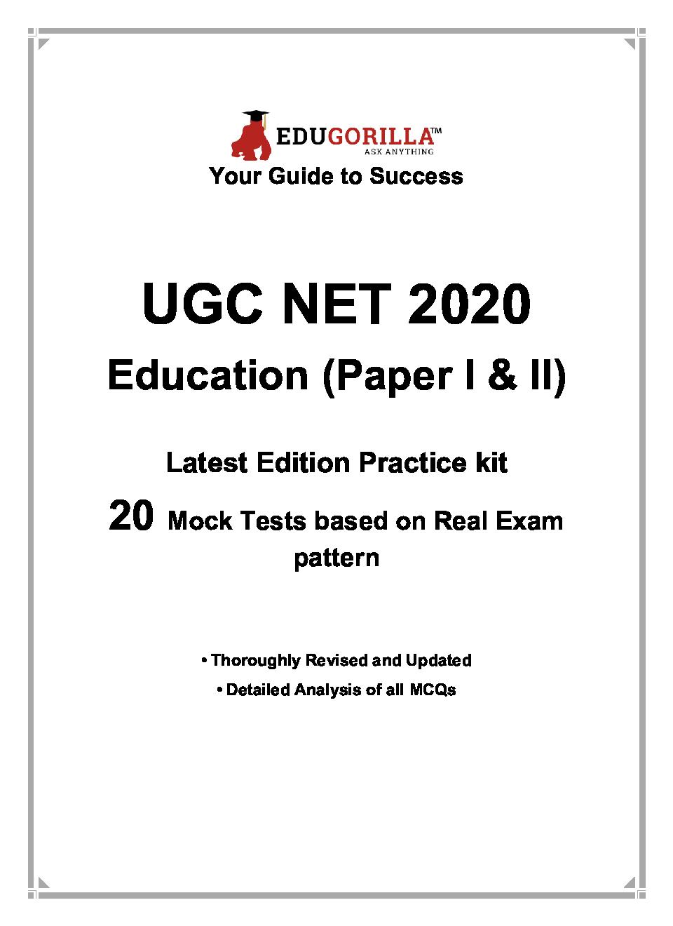 EduGorilla UGC NET Education 2020   20 Full-Length Mock Test For (Paper I & II) - Page 3