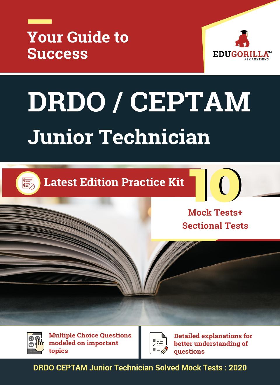 EduGorilla DRDO CEPTAM Junior Technician - 2020 - 10 Mock Test + 24  Sectional Test - Page 1