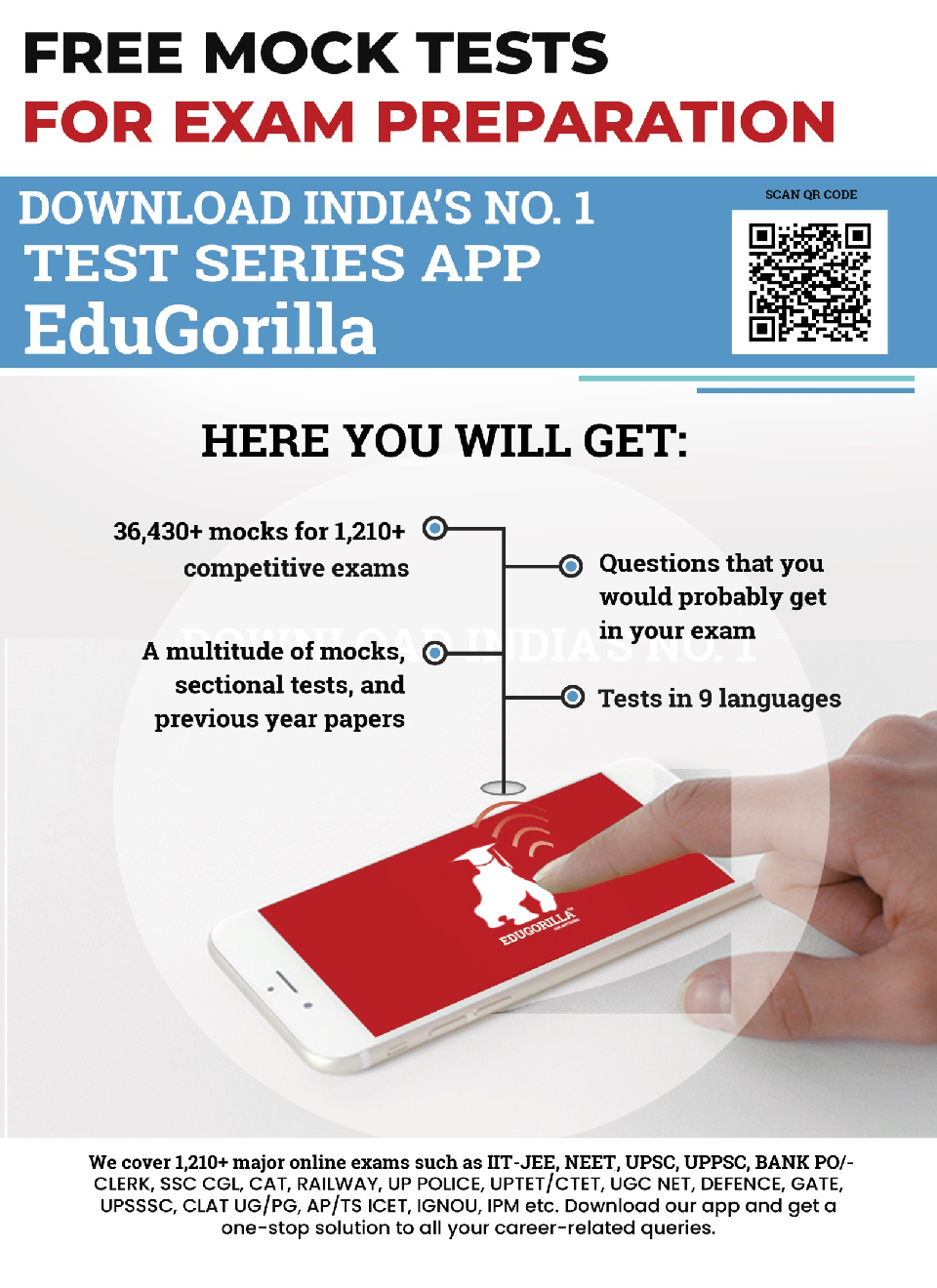EduGorilla EPFO Assistant (Mains) - 2020 - 5 Mock Test - Latest Edition Practice Kit - Page 2