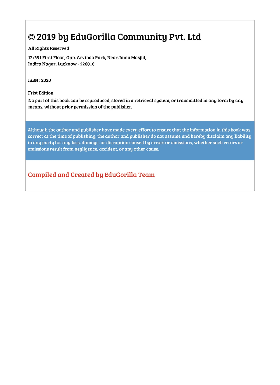 EduGorilla LIC Agent ADO 2020 - 8 Mock Tests -  Latest Edition Practice Kit - Page 4