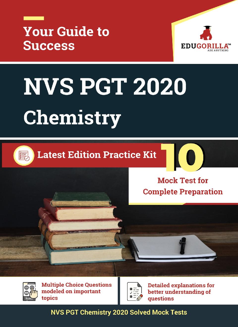 Edugorilla NVS PGT Chemistry 2020   10 Mock Test For Complete Preparation - Page 1