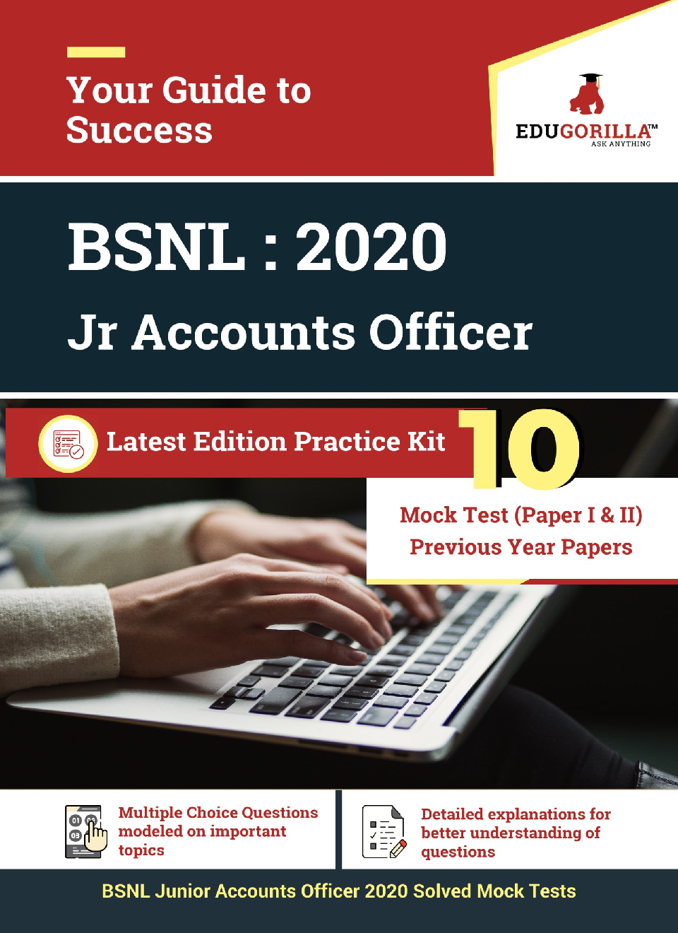 Edugorilla BSNL Junior Accounts Officer (JAO) 2020   10 Mock Test (Paper I & II) For Complete Preparation - Page 1