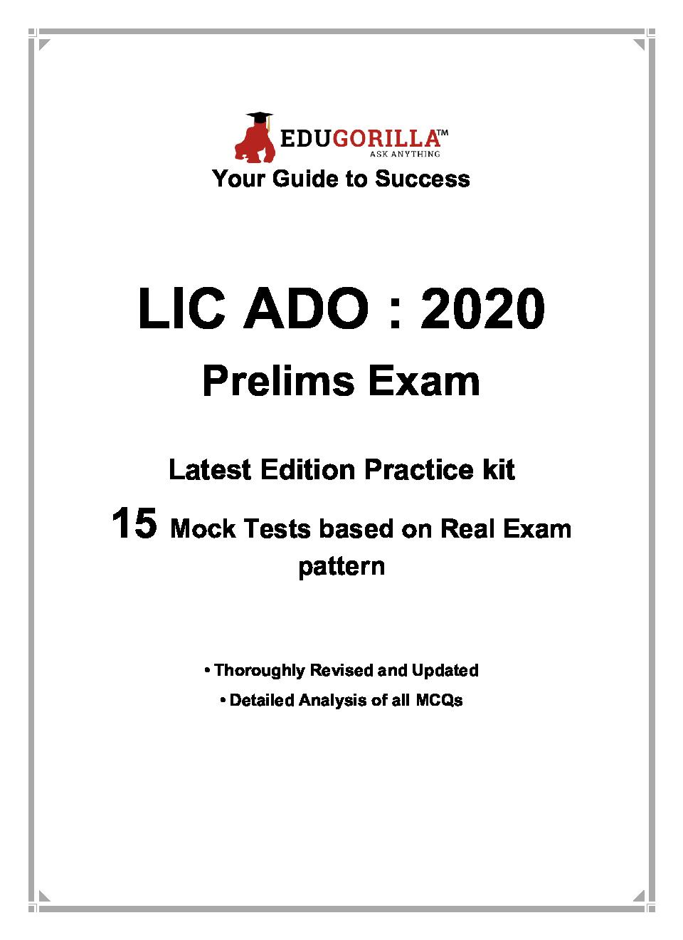 EduGorilla LIC ADO Prelims Exam 2020 | 15 Mock Test - Page 3