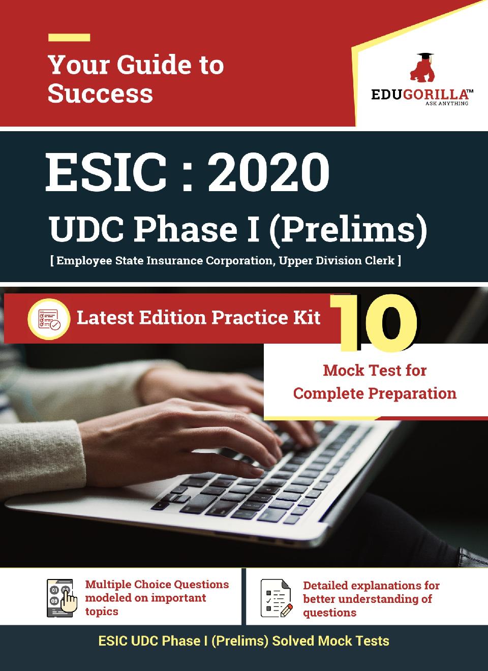 EduGorilla ESIC Upper Division Clerk (UDC) Phase I (Prelims) Recruitment Exam | 10 Mock Test - Page 1