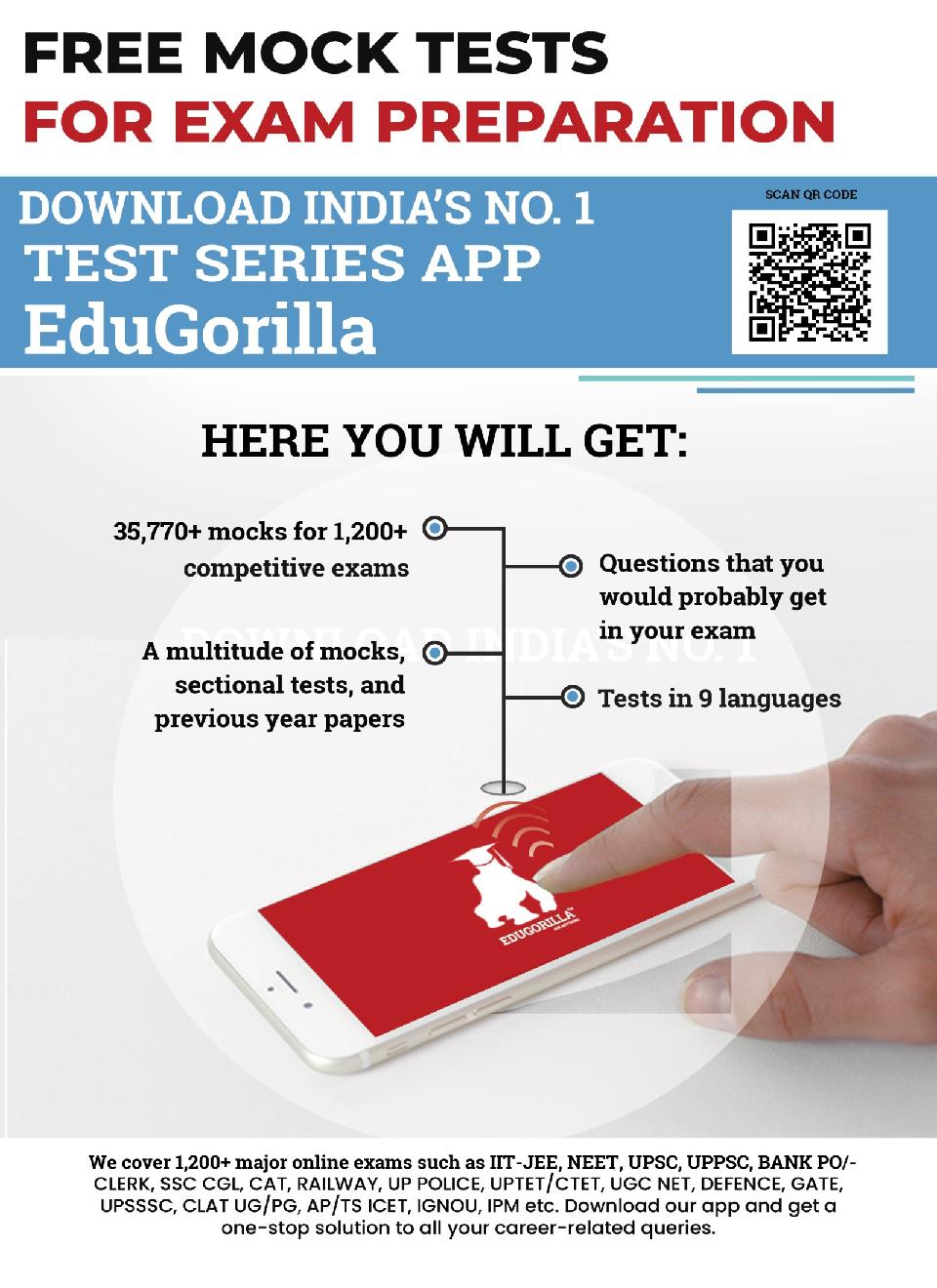 EduGorilla COMEDK Entrance Exam 2020   15 Mock Test - Page 2