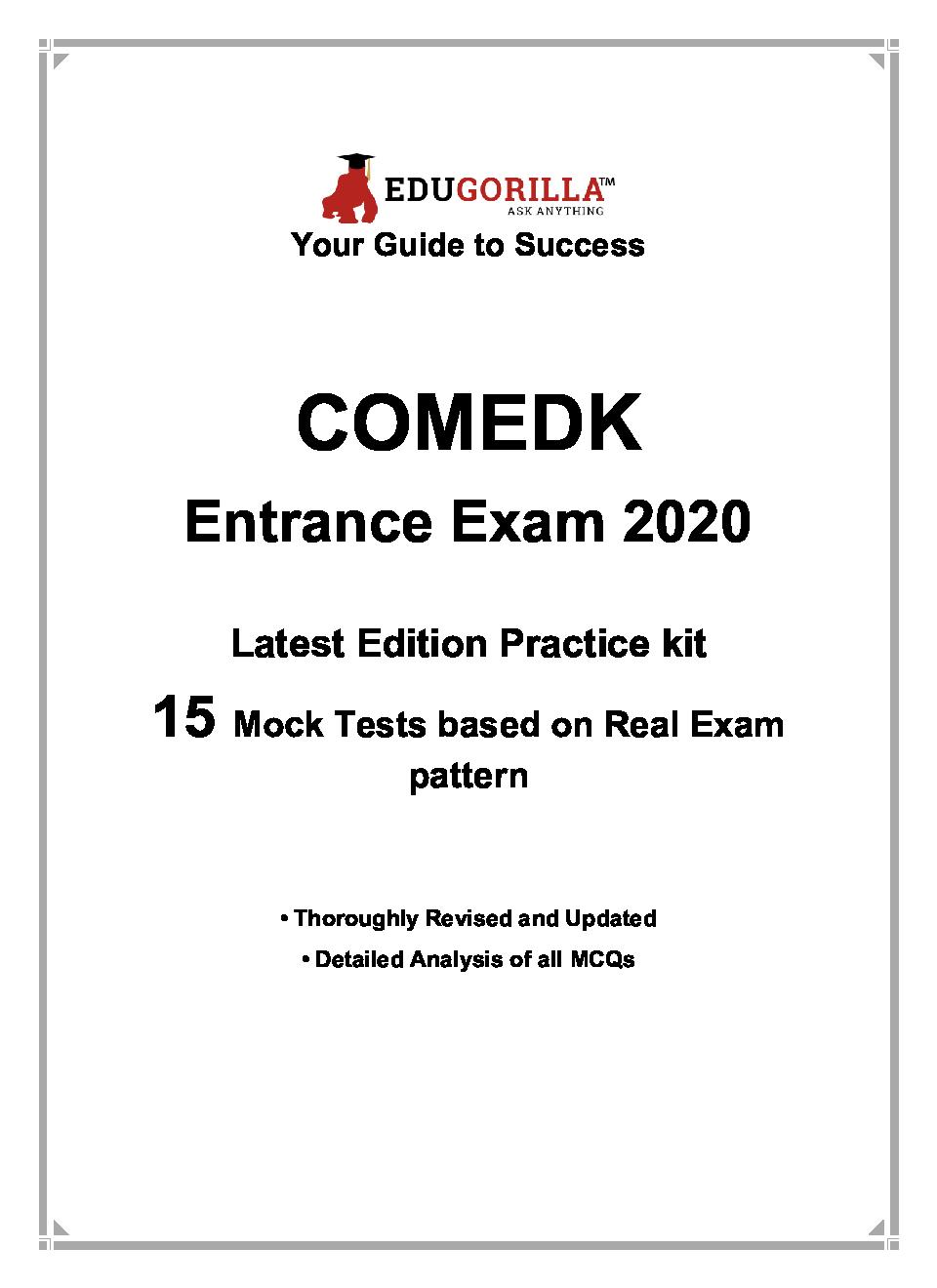 EduGorilla COMEDK Entrance Exam 2020   15 Mock Test - Page 3