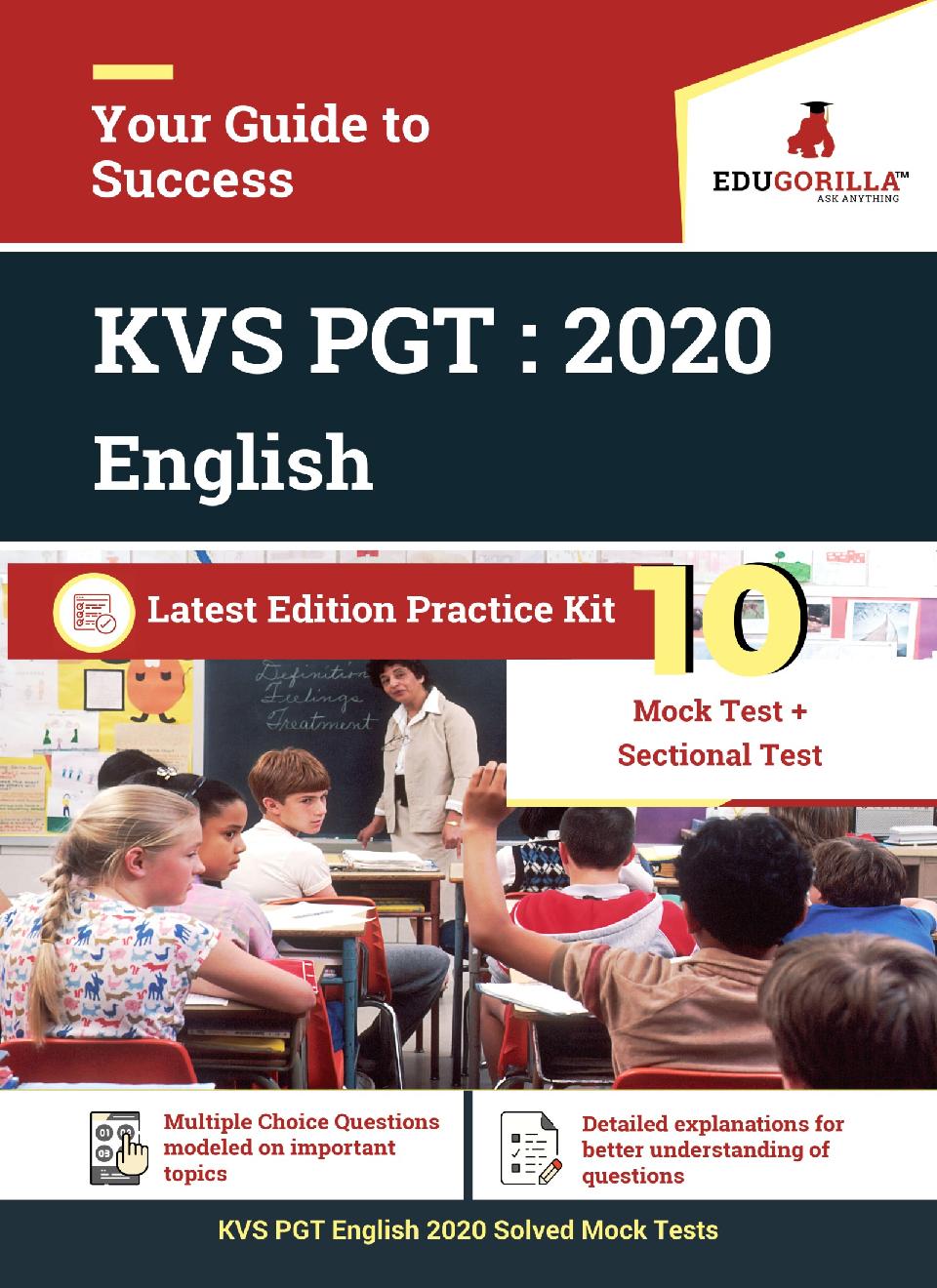 EduGorilla KVS PGT (English) 2020 | 10 Full-length Mock Test + Sectional Test - Page 1