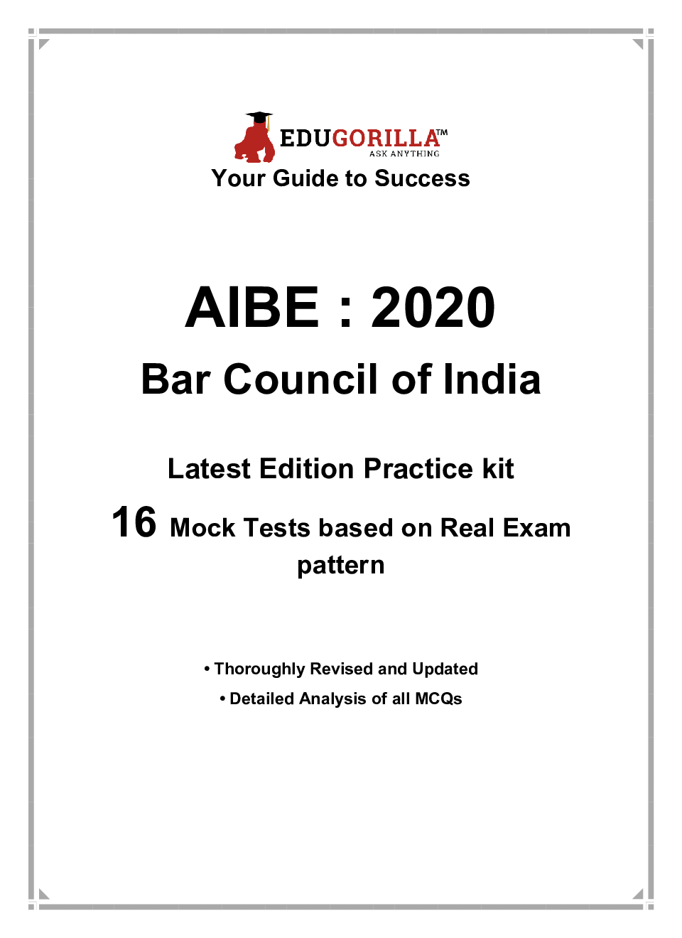 EduGorilla All India Bar Examination (Bar Council) 2020   10 Mock tests + 6 Practice Tests - Page 3