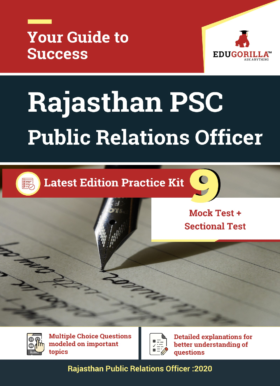 Edugorilla Rajasthan PSC (RPSC) - Public Relations Officer (PRO) 2020   9 Full Length Mock Test + Sectional Test   With Complete Solution - Page 1