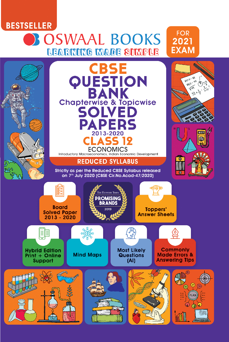 Oswaal CBSE Question Bank Chapterwise & Topicwise Solved Papers For Class - XII Economics Reduced Syllabus (For March 2021 Exam) - Page 1