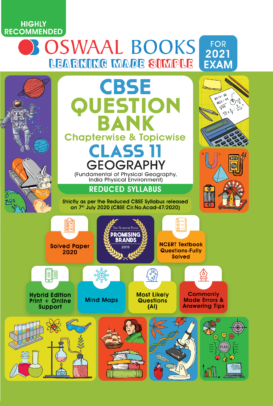 Oswaal CBSE Question Bank Chapterwise & Topicwise For Class - XI Geography Reduced Syllabus (For March 2021 Exam) - Page 1