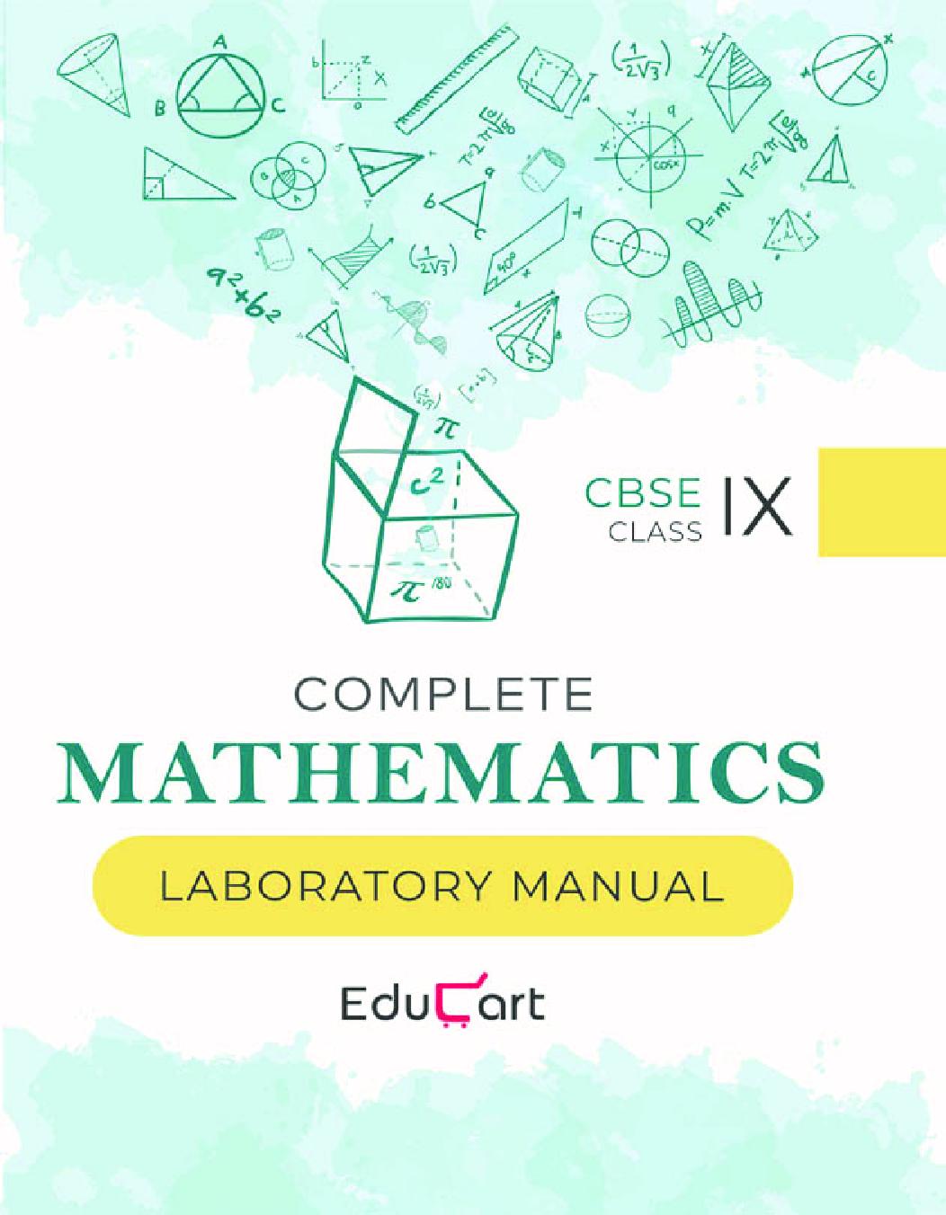 Educart CBSE Complete Mathematics Laboratory Manual For Class - IX - Page 1