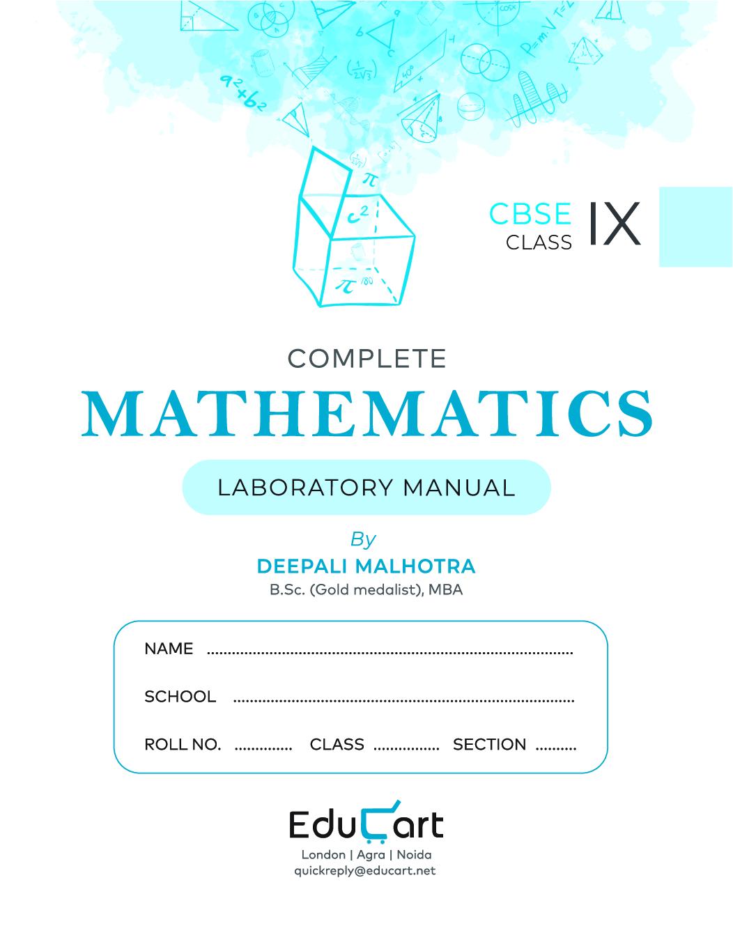 Educart CBSE Complete Mathematics Laboratory Manual For Class - IX - Page 3