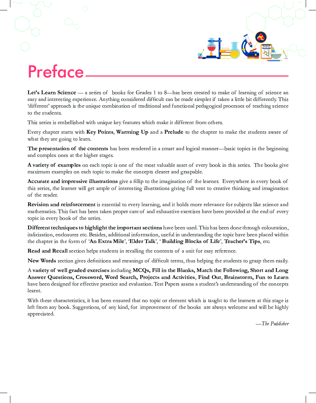 Educart CBSE Let's Learn Science Textbook For Class - VII - Page 4