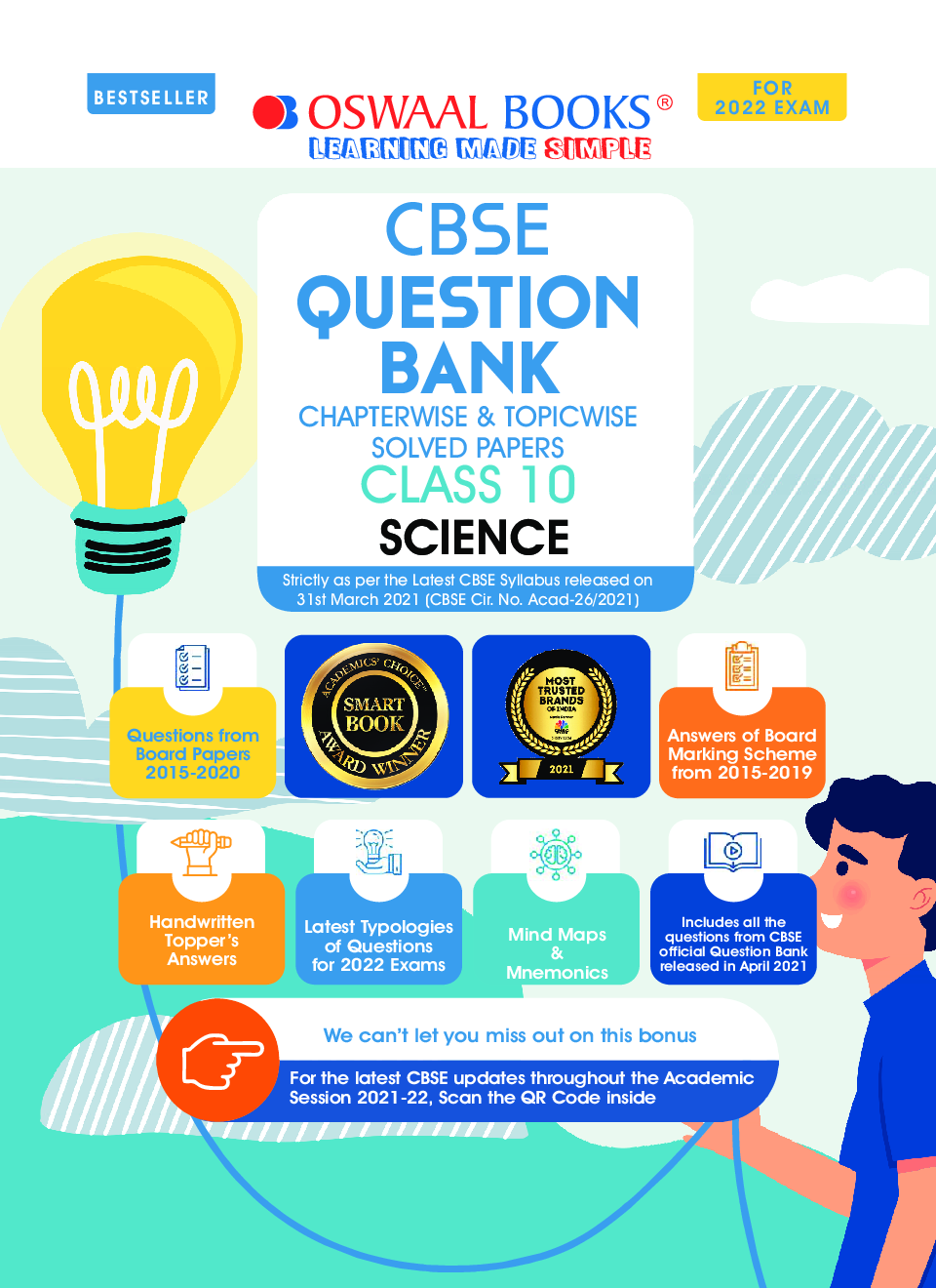 Oswaal CBSE Question Bank Class 10 Science Book Chapterwise & Topicwise Includes Objective Types & MCQ's (For 2022 Exam) - Page 2