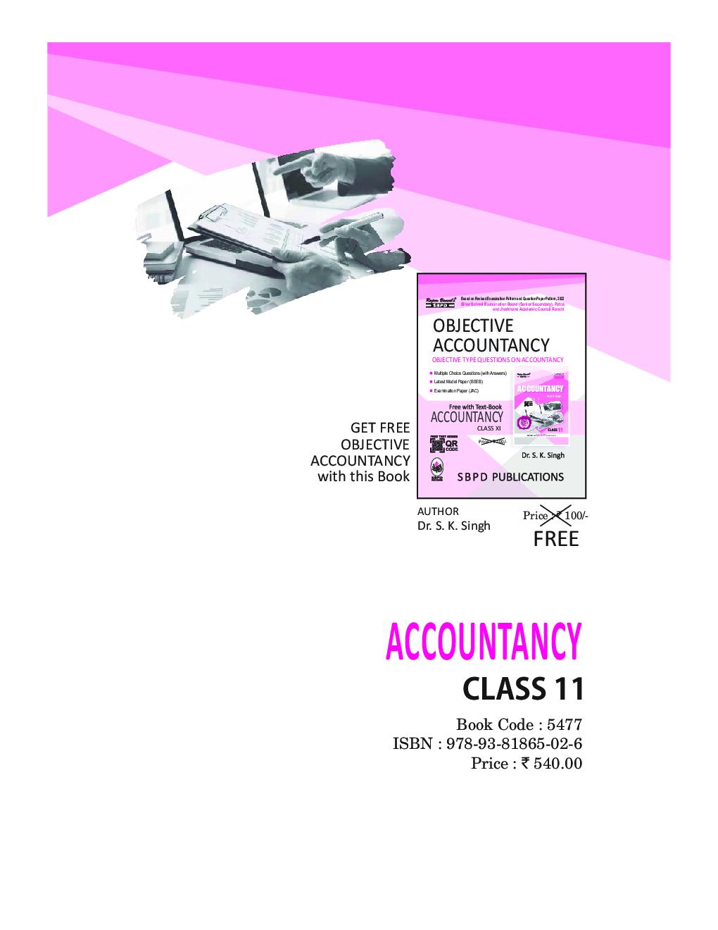 Accountancy Class XI - Page 1