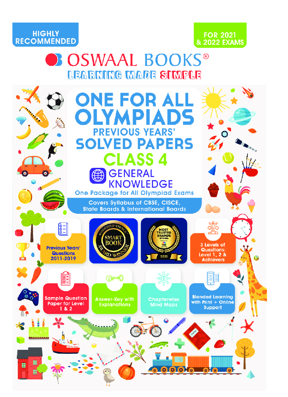 One for All Olympiad Previous Years' Solved Papers Class-4 General Knowledge Book (For 2022 Exam) - Page 2
