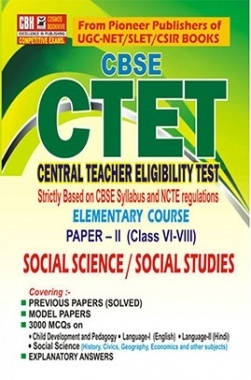 CTET Paper II Elementary Level Social Science for  Class 6 to 8