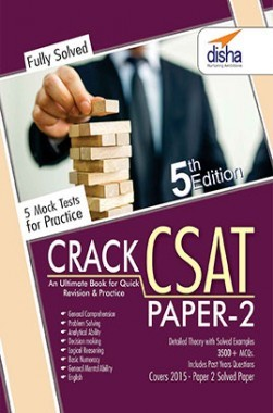 Crack CSAT - Paper 2 with 5 Mock Tests (General Studies IAS Prelims) Fifth Edition
