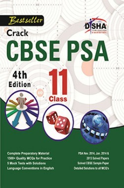 Crack CBSE-PSA 2015 Class 11 (Study Material + Fully Solved Exercises + 5 Model Papers) 4th Edition