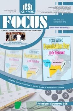 e-Focus September 2012 by ICSI