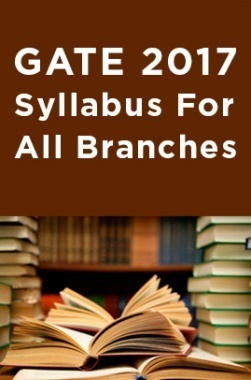 GATE 2018 Syllabus For All Branches