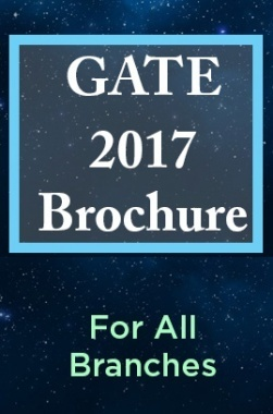 GATE 2017 Brochure For All Branches