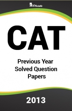 CAT Previous Year Solved Question Papers  2013