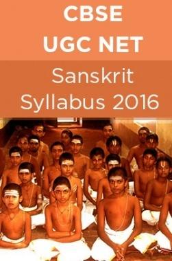 CBSE UGC NET Sanskrit Syllabus 2016
