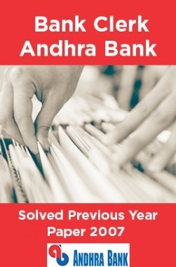 Bank Clerk Andhra Bank Solved Previous Year Paper 2007