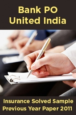 Bank PO United India Insurance Solved Sample Previous Year Paper 2011