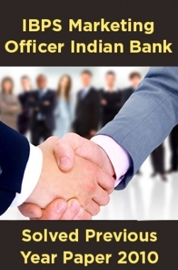 IBPS Marketing Officer Indian Bank Solved Previous Year Paper 2010