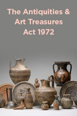 The Antiquities And Art Treasures Act 1972