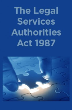 The Legal Services Authorities Act 1987