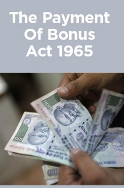 The Payment Of Bonus Act 1965