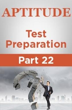 Aptitude Test Preparation Part 22